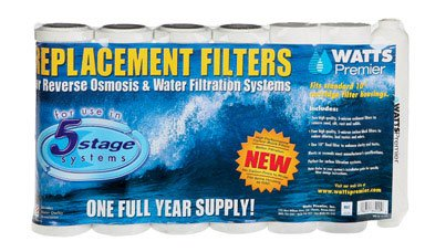 Watts 500024 Sediment & Carbon Replacement Filter Kit