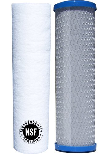 Watts Premier 560088 Lead, Cyst, VOC Carbon Block Filter Two Stage Replacement Filter Pack